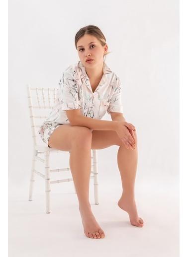 Hays Kadın Gömlek Model Kısa Kollu Dokuma Üst Yeşil